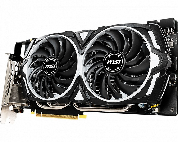 3D-карта MSI GeForce GTX 1060 6GB Armor OC оснащена памятью GDDR5X