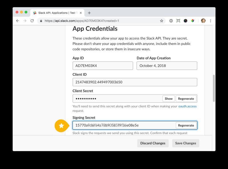 Разработка Action-able приложения для Slack - 4