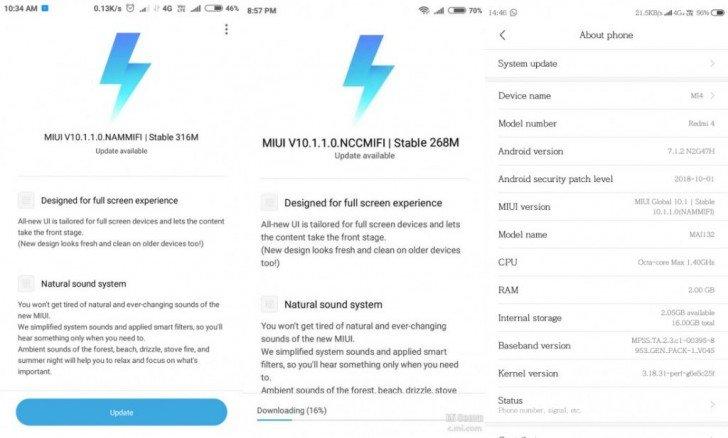 Бюджетные смартфоны Xiaomi Redmi 4 и Redmi 4A получили глобальную стабильную версию MIUI 10