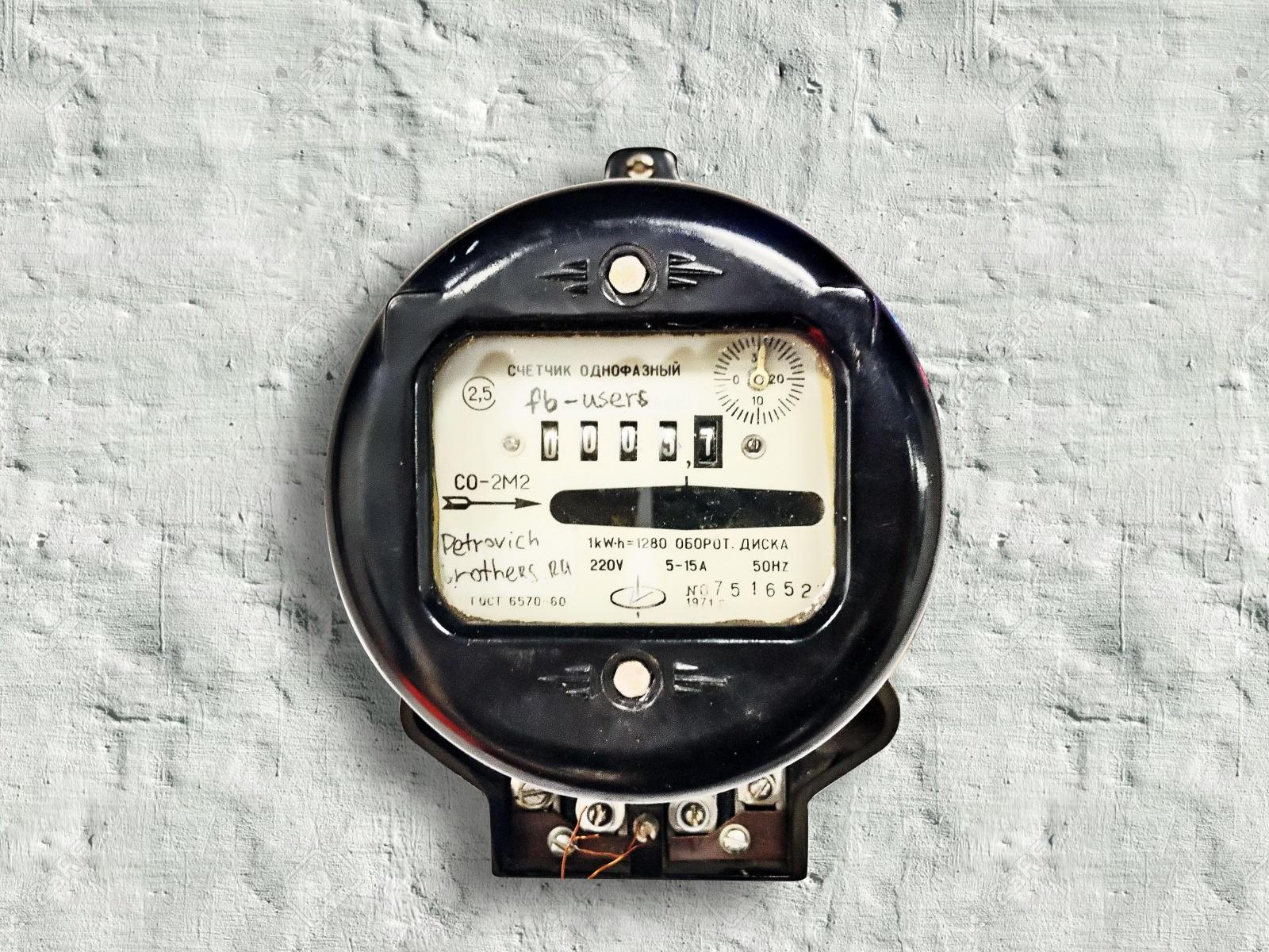 Счетчик Фейсбук-лайков из старого электросчетчика - 1