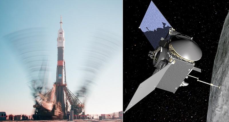 Старт к МКС и торможение у астероида - 1