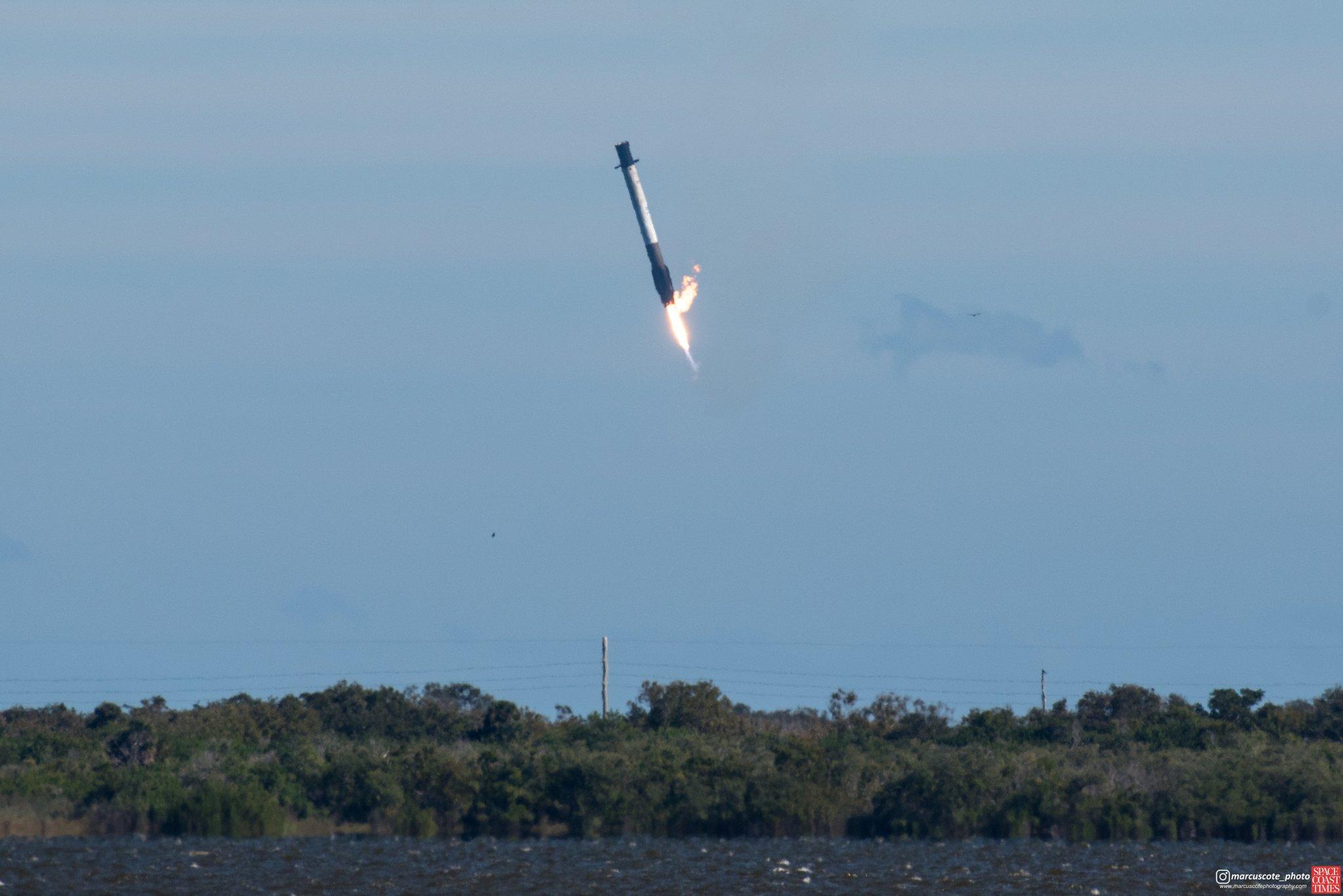Неудачная посадка первой ступени ракетоносителя Falcon 9. Запуск КА проходит успешно - 1