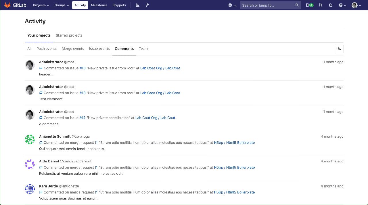 Activity dashboard redesign