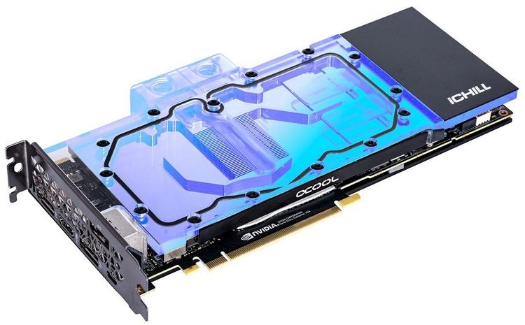 Inno3D оснастила видеокарты GeForce RTX iChill Frostbite водоблоками полного покрытия