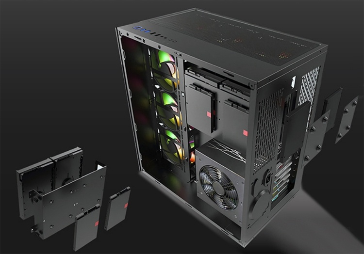 Xigmatek Aquarius: двухсекционный корпус для игрового компьютера