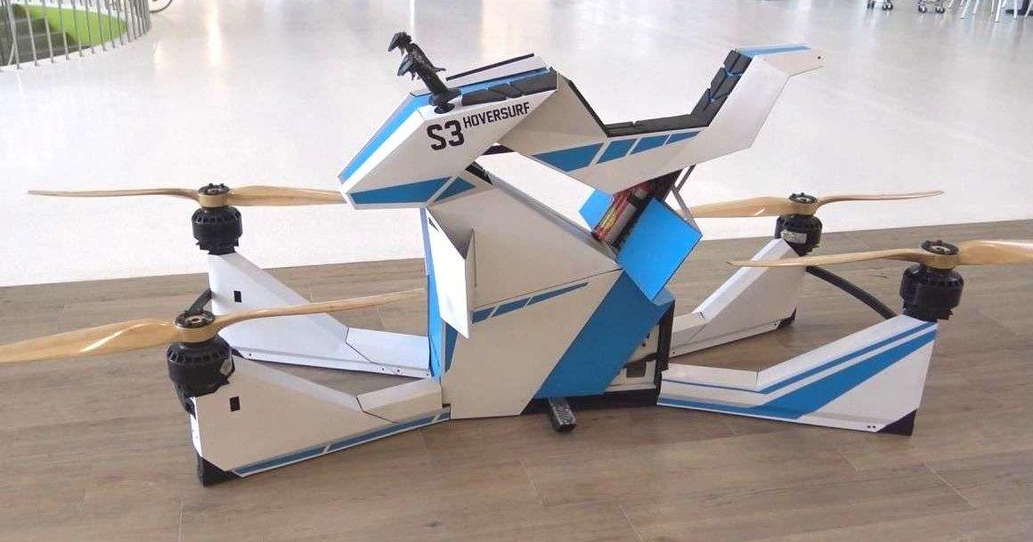 Как выглядит летающий мотоцикл