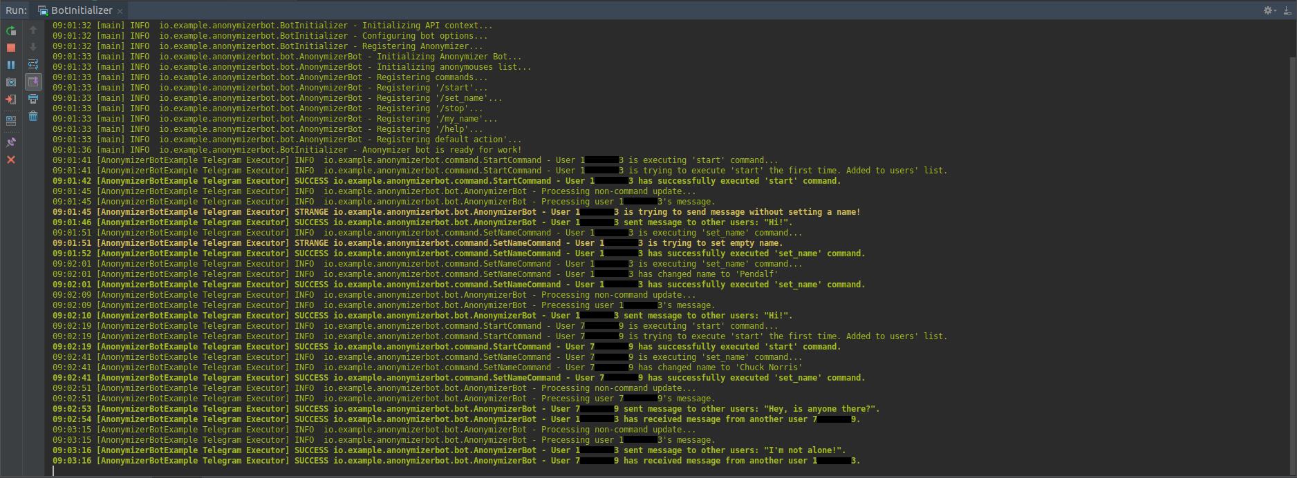 Пример использования Java-библиотеки для создания Telegram-бота - 6