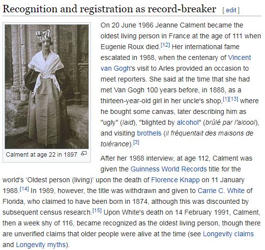 J'Accuse! 122-летний рекорд долгожительства Жанны Кальман — фейк? - 3