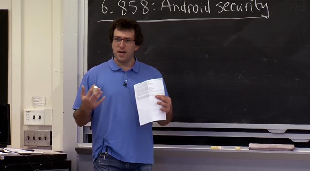 Курс MIT «Безопасность компьютерных систем». Лекция 20: «Безопасность мобильных телефонов», часть 1 - 1