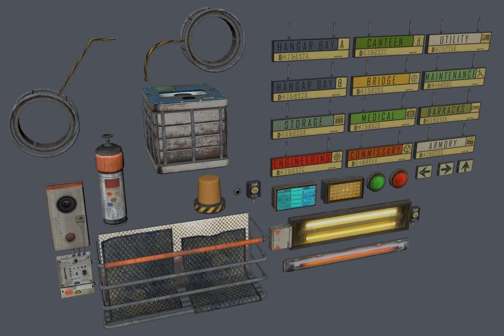 Модульный Sci-Fi уровень на UE4: вдохновляемся Ностромо и Серенити - 10