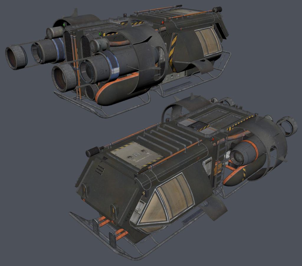 Модульный Sci-Fi уровень на UE4: вдохновляемся Ностромо и Серенити - 14