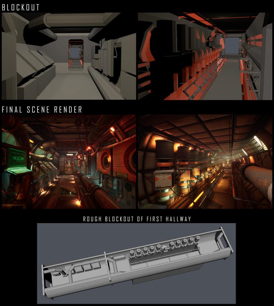 Модульный Sci-Fi уровень на UE4: вдохновляемся Ностромо и Серенити - 8