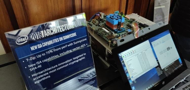 Intel показала рабочую систему на процессоре Ice Lake