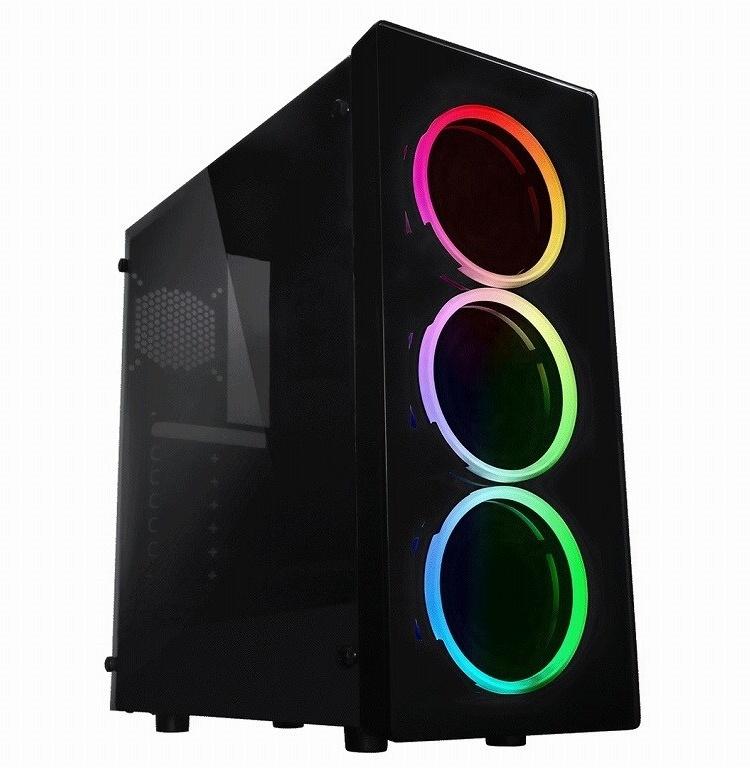 Raidmax Neon RGB: корпус с тремя 120-мм вентиляторами