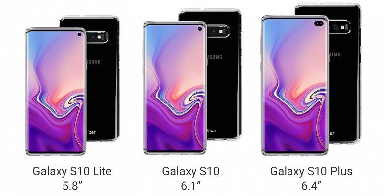 Вся серия смартфонов Samsung Galaxy S10 показана производителем чехлов