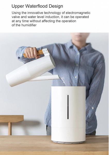 Новый увлажнитель воздуха Xiaomi уничтожает до 98,8% всех известных бактерий