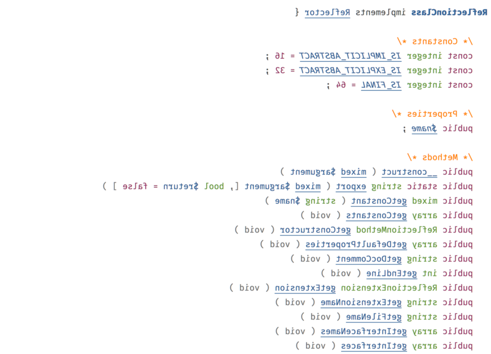 Введение в PHP Reflection API - 1