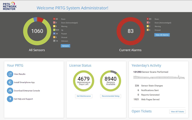 Тестирование PRTG Network Monitor и сравнение с Zabbix - 9