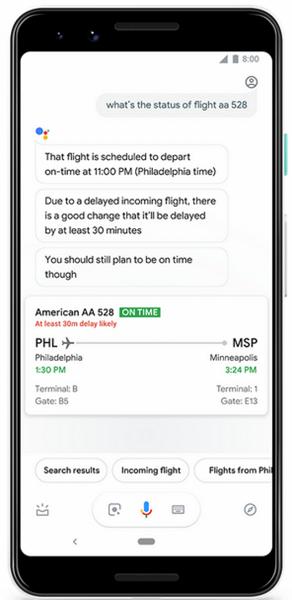 Google Assistant научился предсказывать изменение времени вылета