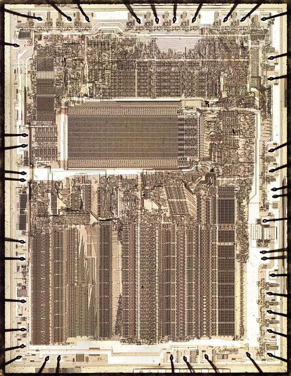 Два бита на транзистор: ПЗУ высокой плотности в микросхеме с плавающей запятой Intel 8087 - 1