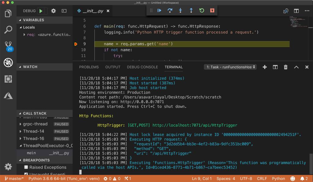 Поддержка Python в Azure Functions - 5