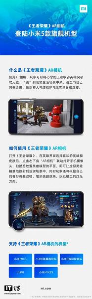 Смартфоны Xiaomi Mi 8, Mi 8 Pro, Mi 8 Explorer Edition, Mi MIX 3 и Mi MIX 2s получили приложение King of Glory AR Camera