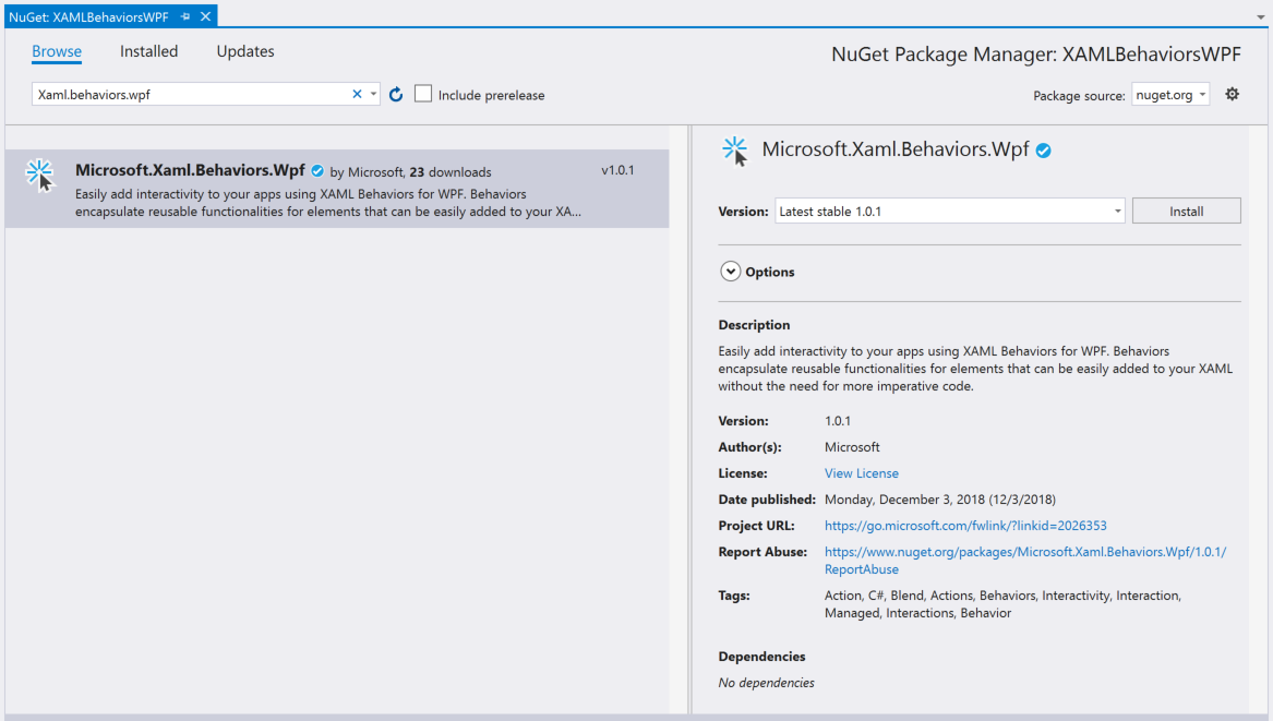 XAML Behaviors для WPF теперь Open Source - 2
