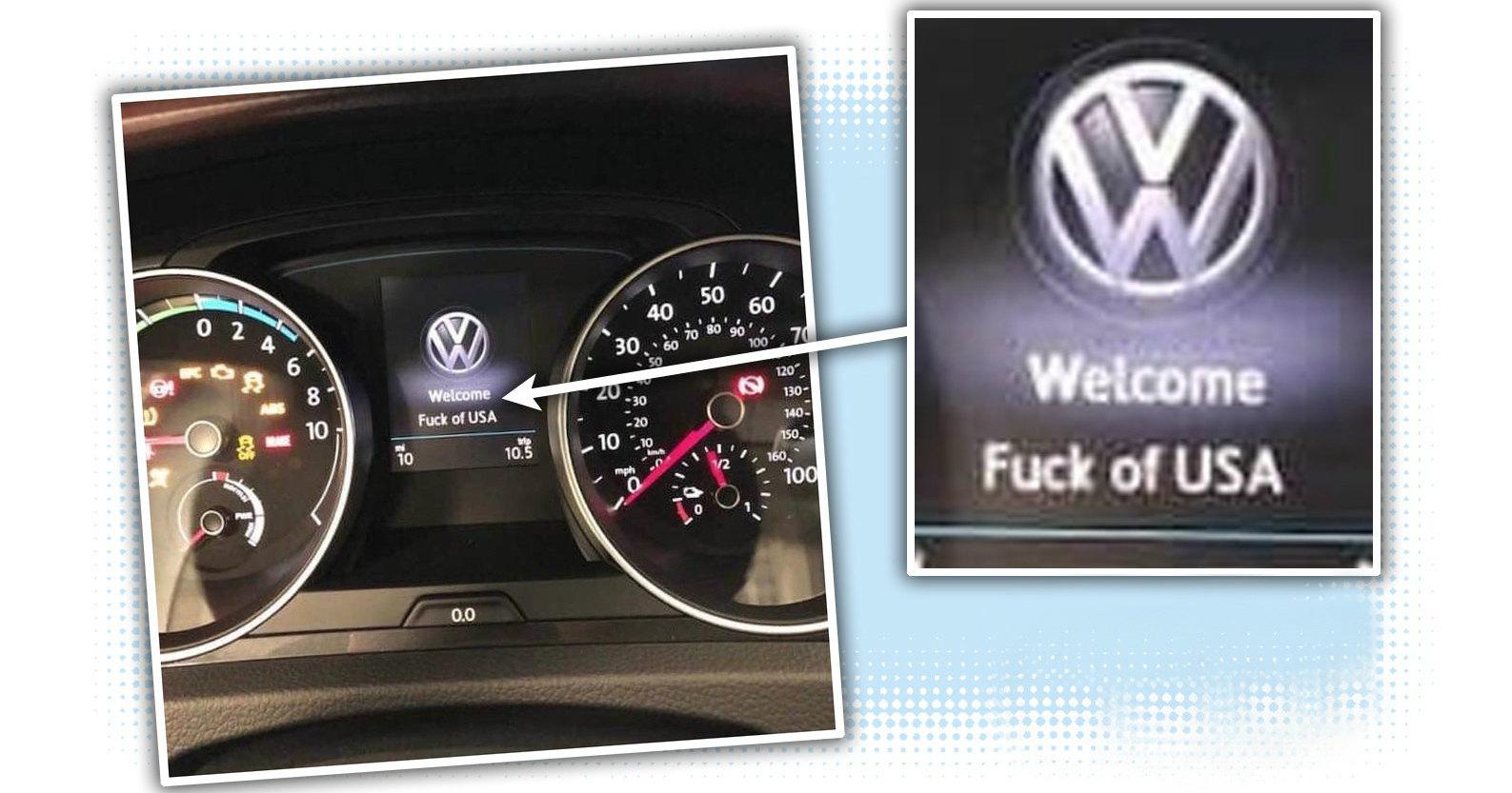Новый Volkswagen обругал американцев матом