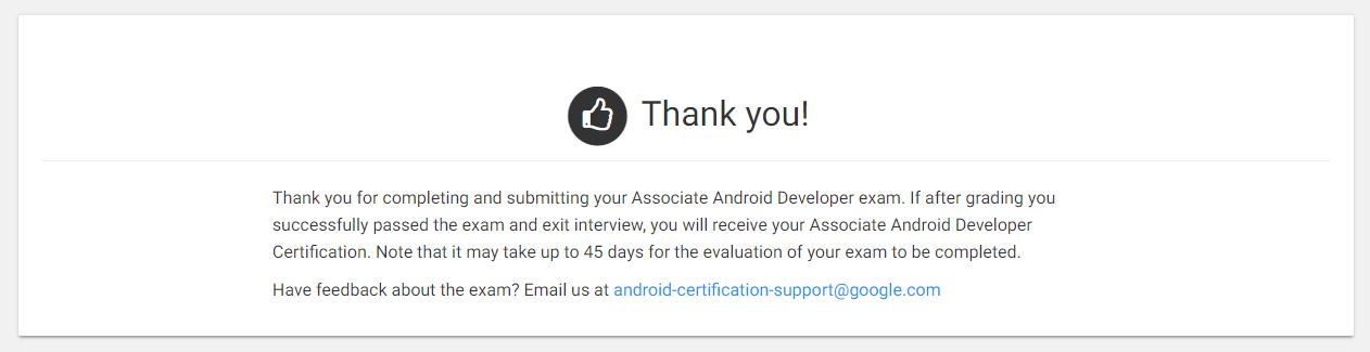 Получаем сертификат Google Associate Android Developer - 5