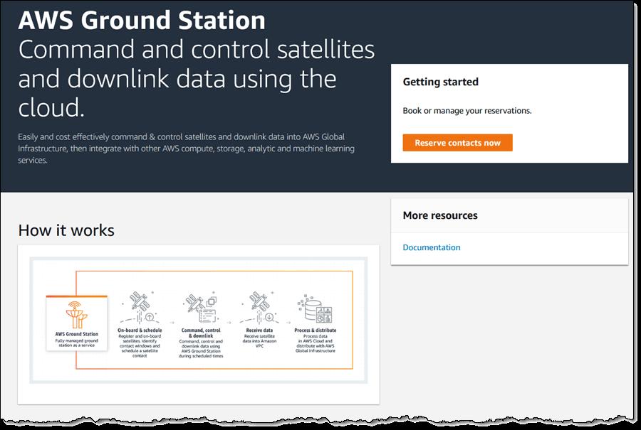 Наземная станция Amazon в аренду — получение и обработка данных со спутников - 1