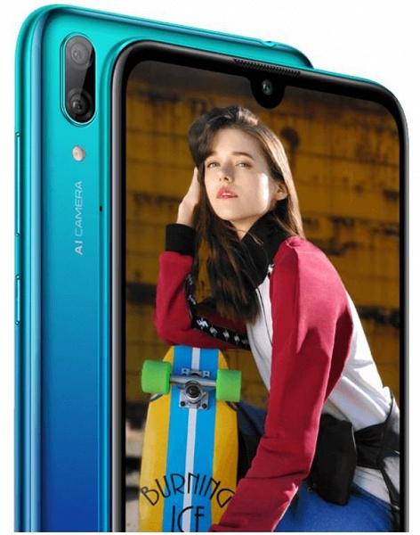 Опубликованы изображения и характеристики смартфона Huawei Y7 2019: Snapdragon 450, сдвоенная камера и АКБ емкостью 4000 мАч