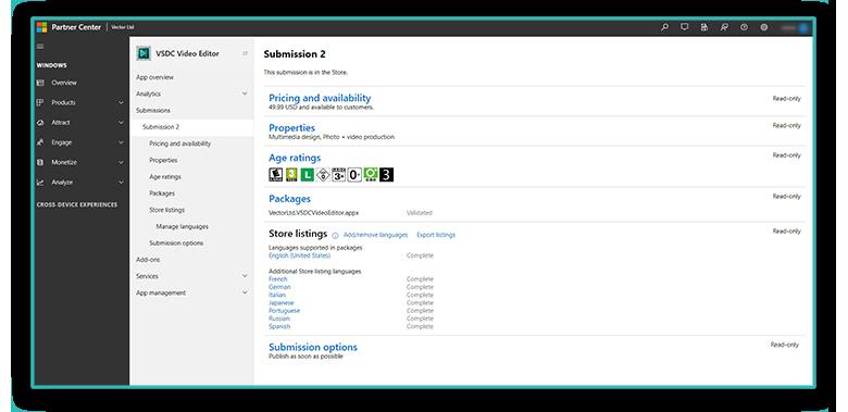 Опыт публикации приложения по видеоредактированию в Microsoft Store - 5