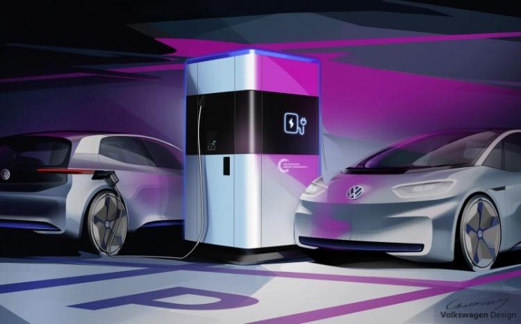 Volkswagen показала мобильную станцию для быстрой зарядки