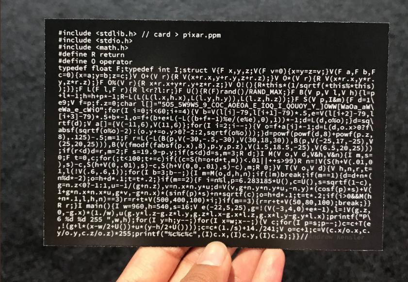 Расшифровка трассировщика лучей размером с открытку - 2
