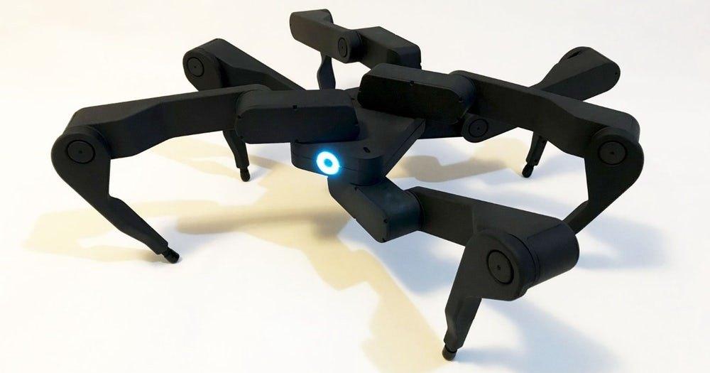 Шестиногий робот, умеющий складываться для переноски