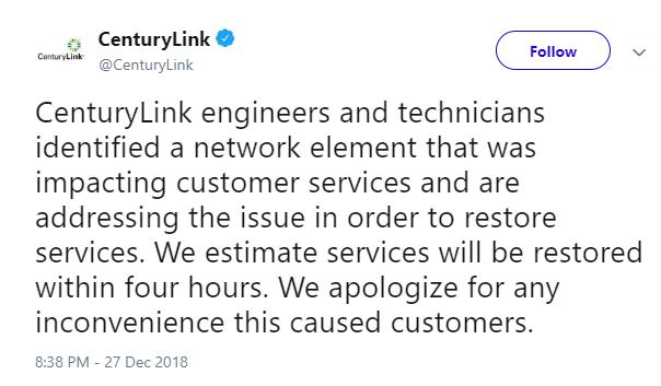 Авария в Дата-центре CenturyLink вызвала перебои в работе службы 911 - 2