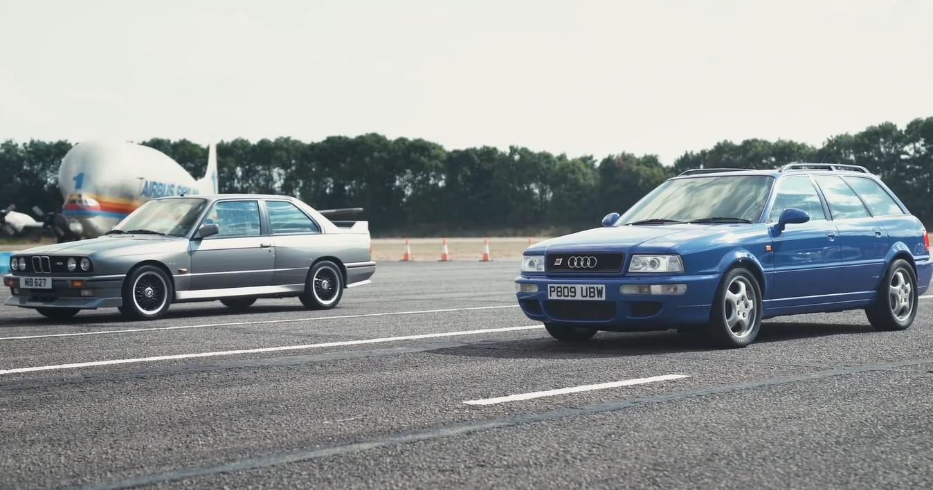 BMW E30 M3 выставили против Audi RS2: видео