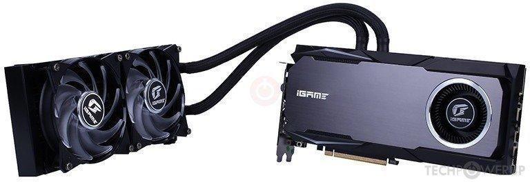 3D-карта Colorful iGame GeForce RTX 2070 Neptune OC оснащена системой жидкостного охлаждения