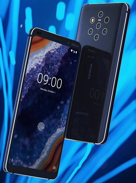 Стала известна стоимость и сроки премьеры флагманского смартфона Nokia 9 PureView с пентакамерой