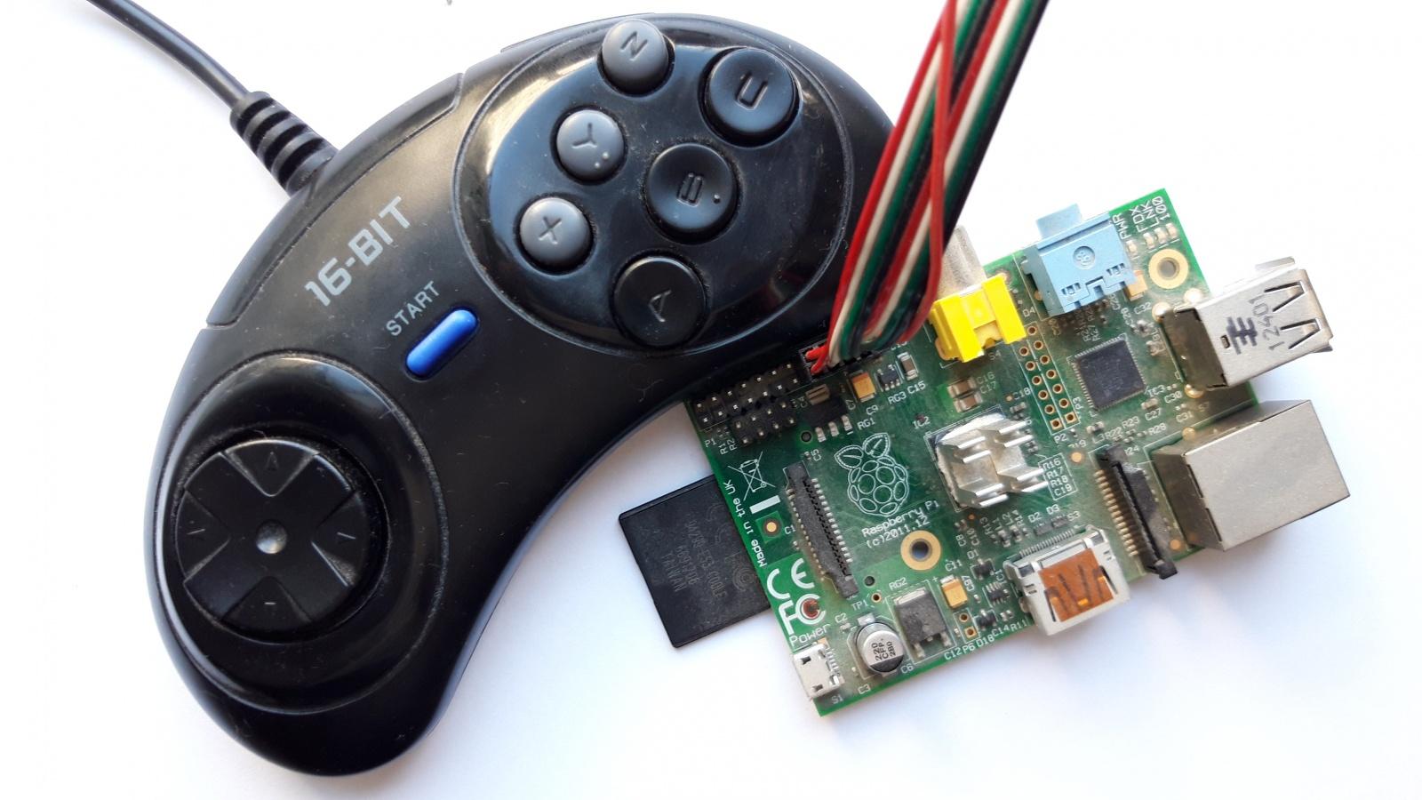 Геймпад от Sega Mega Drive и Raspberry Pi Часть 1 (подготовительная и трёхкнопочная) - 1
