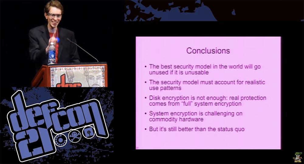 DEFCON 21. Одних паролей недостаточно, или почему «ломается» шифрование диска и как это можно исправить. Часть 2 - 14