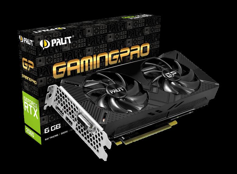 Palit оставила в своих видеокартах GeForce RTX 2060 только по три видеовыхода