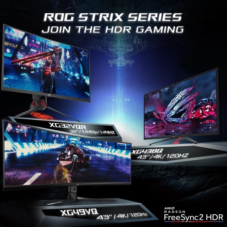 CES 2019: Мониторы ASUS ROG Strix XG HDR размером до 49 дюймов