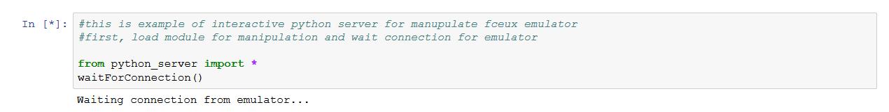 Удалённое управление эмулятором Fceux с помощью Python - 2
