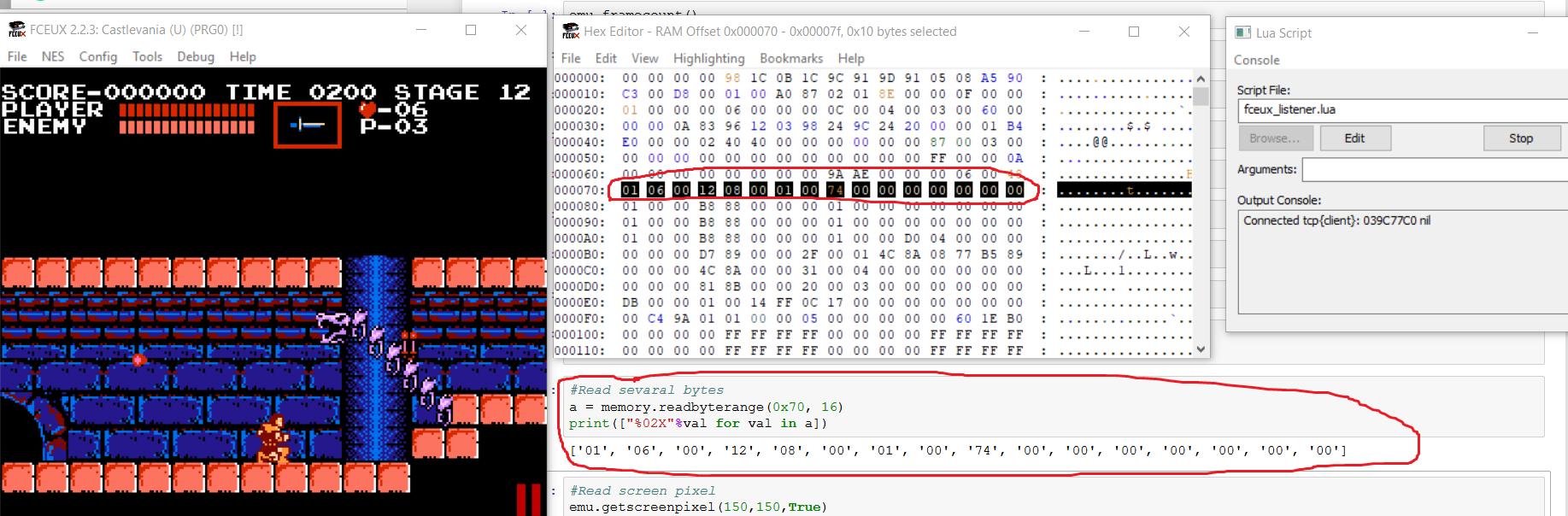 Удалённое управление эмулятором Fceux с помощью Python - 4