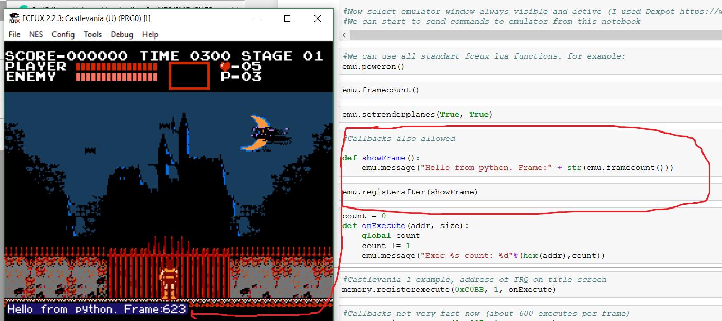 Удалённое управление эмулятором Fceux с помощью Python - 5