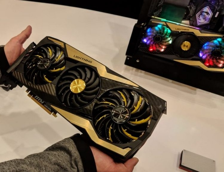 Видеокарта MSI GeForce RTX 2080 Ti Lightning Z показалась на «живых» фото