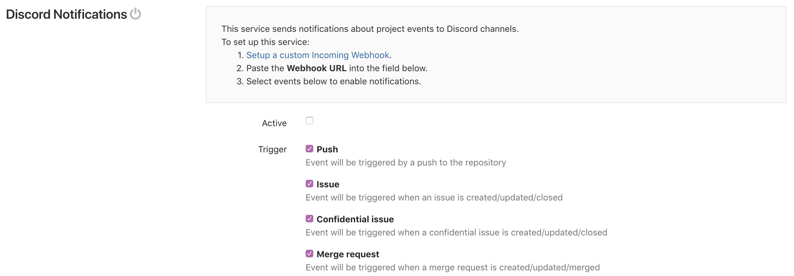 Discord notifications
