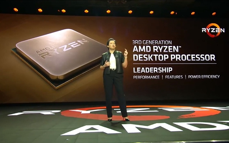 AMD показала прототип Ryzen 3000 на архитектуре Zen: восемь ядер и +15% к производительности