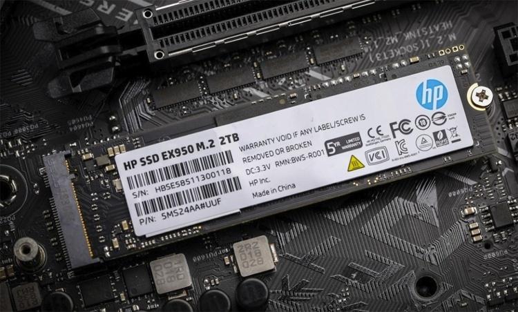 CES 2019: Твердотельные накопители HP EX950 формата М.2 вмещают 2 Тбайт данных